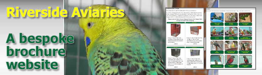 Riverside Aviaries: a broucher Website